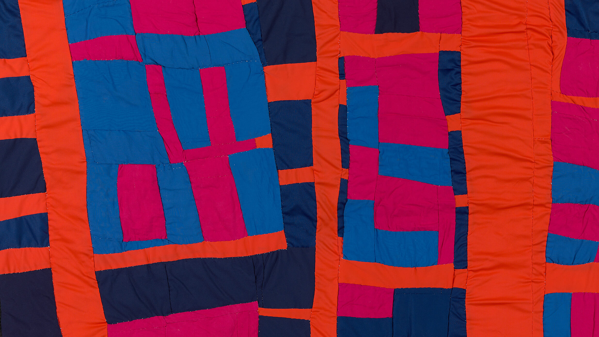 Blocks and Strips Quilt (detail), 2003, by Irene Williams (American, 1920–2015), 2017-229-11. © Estate of Irene Williams/Artists Rights Society (ARS), New York