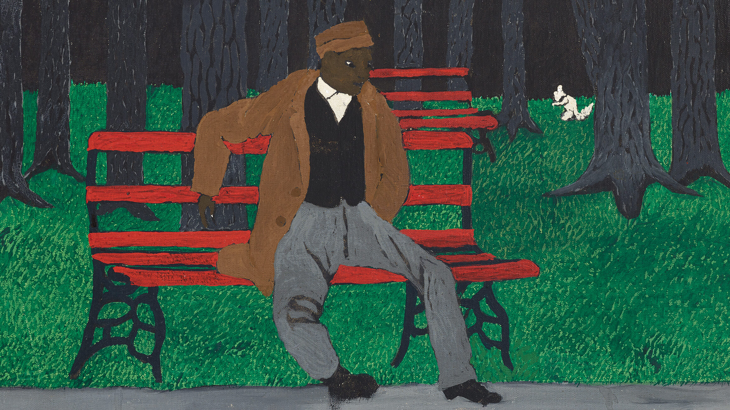 The Park Bench (detail), 1946, by Horace Pippin (American, 1888–1946), 2016-3-4