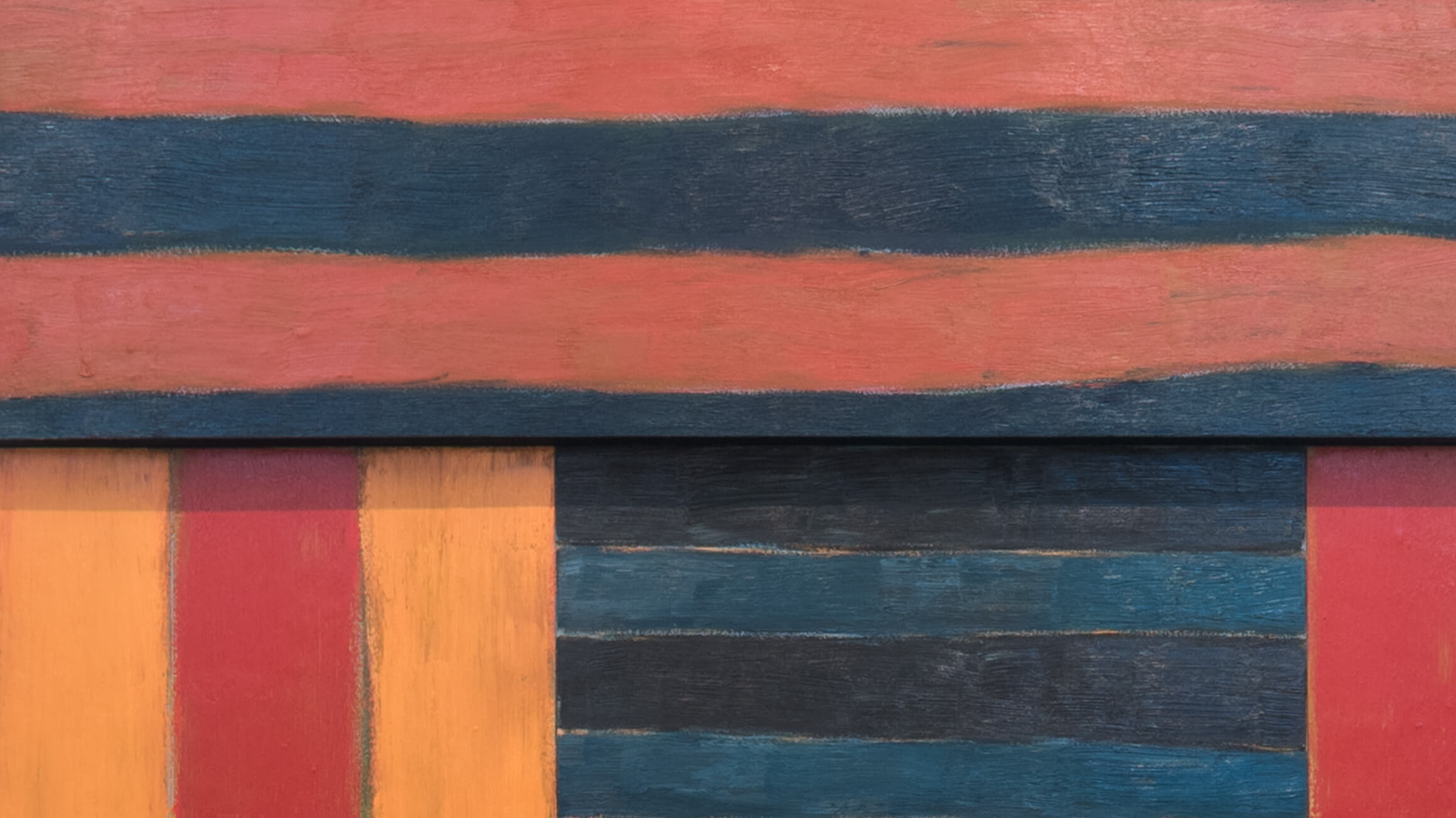 The Fall (detail), 1983, by Sean Scully (American, born Ireland 1945), 2017-208-1. © Sean Scully